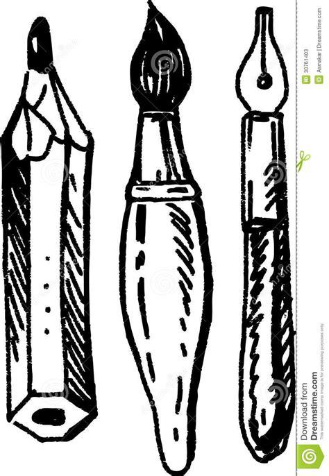 writing utensils stock  image
