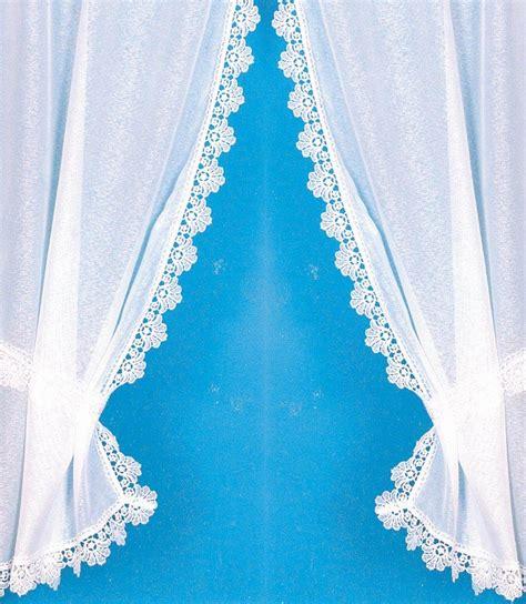 rideau bonne femme avec bordure macram 233 brillant blanc homemaison vente en ligne petits