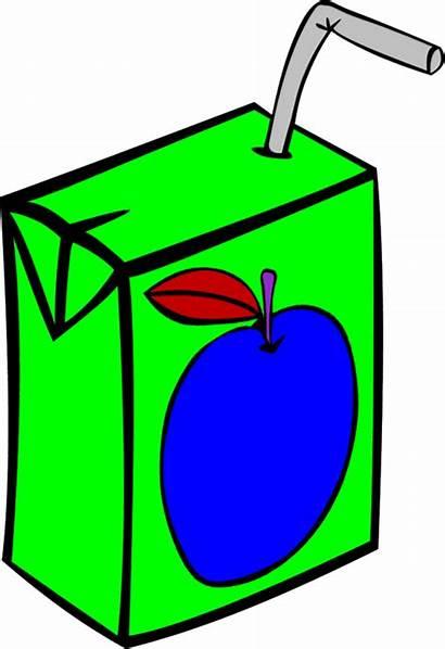 Juice Clipart Clip Apple Box Cliparts Fruit