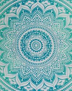 Turquoise Mandala Cheap Tapestries Turquoise Wall