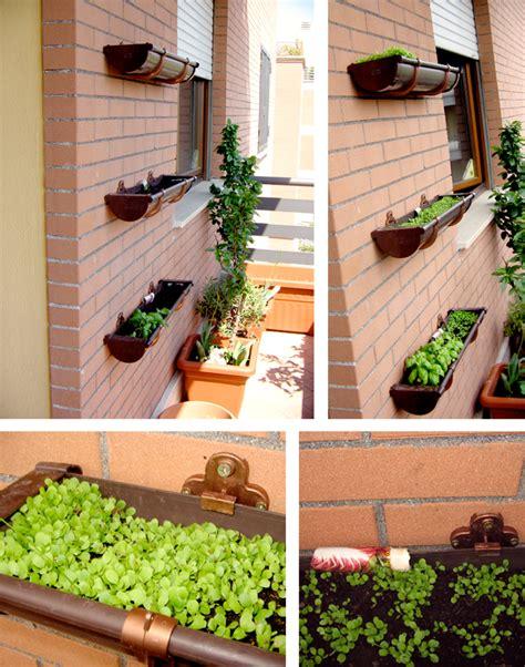 Vertikal Garten Pflanzen by Garten Vertikal Dachrinne Zweckentfremdet Vertikal