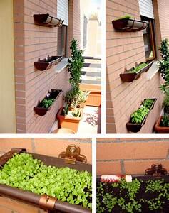 Vertikaler Garten Balkon : garten vertikal dachrinne zweckentfremdet vertikal dachrinne und vertikaler garten ~ Frokenaadalensverden.com Haus und Dekorationen