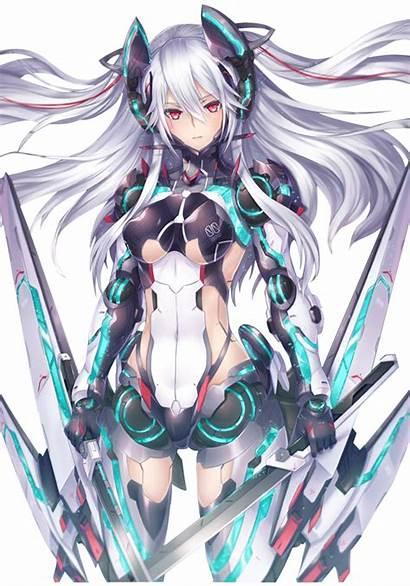 Render Manga Mangas Fille Robot Anime Femme