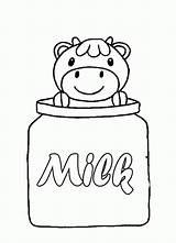 Coloring Milk Carton Cow Printable Sketch Template Bottle Missing Sweet Popular sketch template