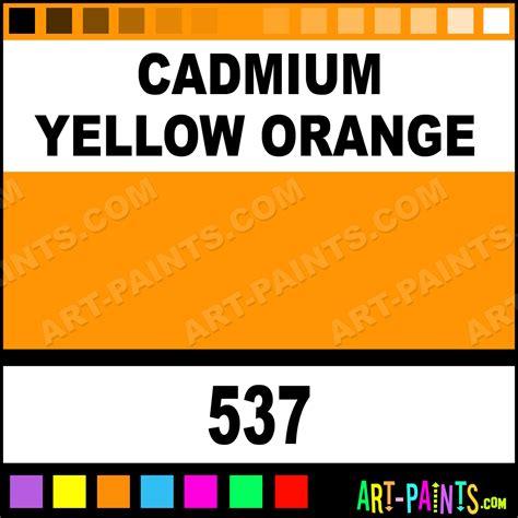 cadmium yellow orange colors paints 537 cadmium