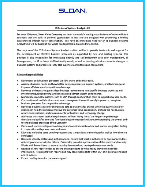 Organization Experience Resume by Create Your Astonishing Business Analyst Resume And Gain