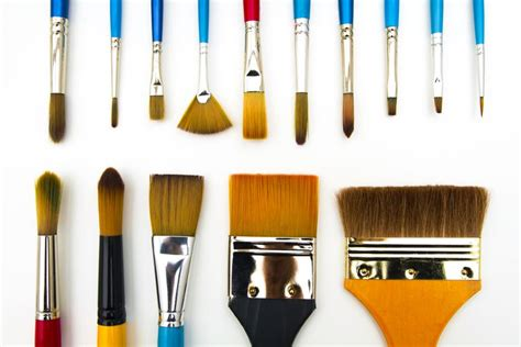 types  shapes  art paint brushes