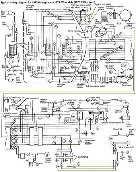 Harley Davidson Fxe Wiring Diagram