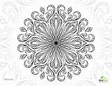 Coloring Advanced Pages Printable Adults Flower Mandala Adult Romantic Unique Christmas Flowers Sheets Colouring Books Drawings Getcolorings Getdrawings Printabl Mandalas sketch template