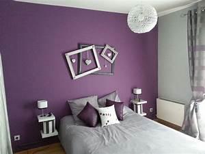 deco chambre gris et mauve With chambre violet et rose