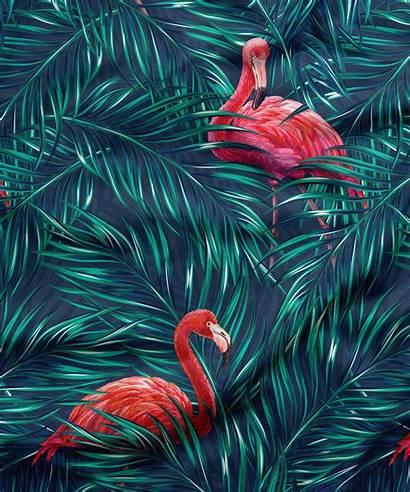Flamingo Fabric Background Tropical Flamingos Republic King