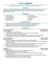 sle assistant general manager resume unforgettable assistant manager resume exles to stand out myperfectresume