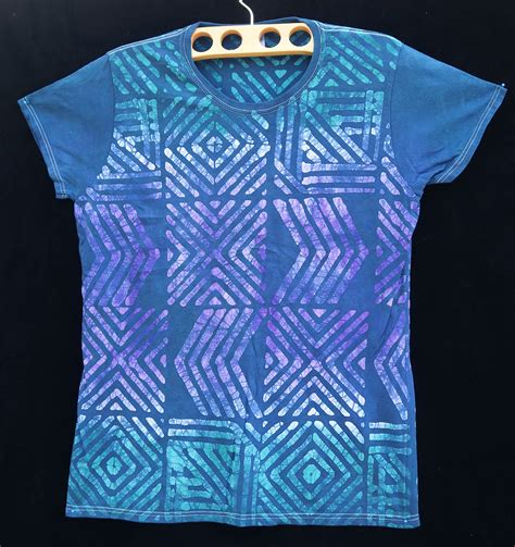 t shirt batik batik t shirt by gasali adeyemo large indigo arts