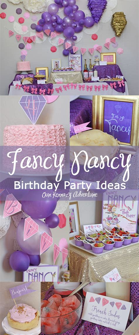 fancy nancy birthday party ideas copy  kerrazy adventure