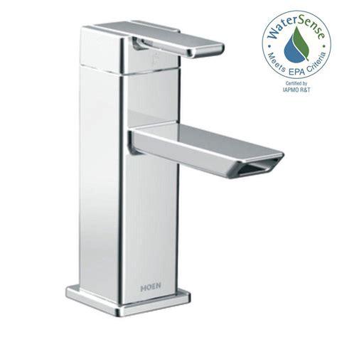 bathroom sink lever taps moen 90 degree single hole single handle low arc bathroom