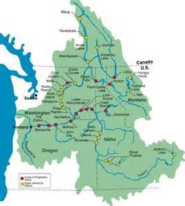 Columbia River Washington Map