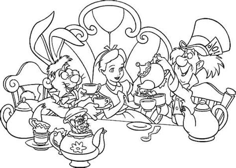 Free Printable Alice In Wonderland Coloring Pages