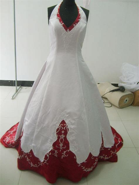 Red And White Wedding Gowns