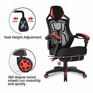 Merax Gaming Stuhl : merax spider man series mesh office chair desk swivel chair computer task chair with footrest ~ Buech-reservation.com Haus und Dekorationen