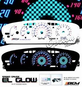Dodge Neon 1995 1999 Reverse Glow Gauge Cluster Face Kit
