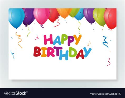 happy birthday greeting card design  confetti vector image