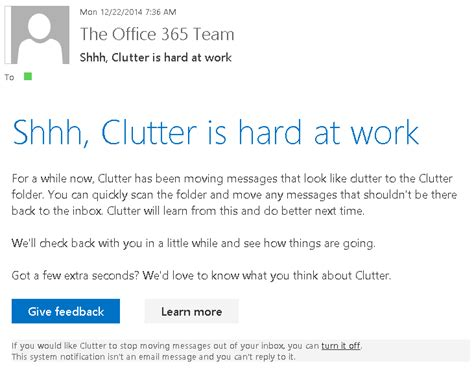 Office 365 Mail Going To Clutter by Take Back Of Your Inbox With These Office 365