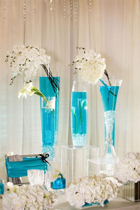 Turquoise wedding decor ideas elitflat turquoise in wedding decorations deco tables junglespirit Gallery