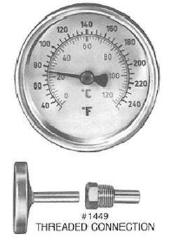 Pasco 1449 Dial Thermometer with Brass Well   FaucetDepot.com