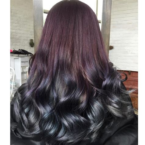 hair color combinations a lush mix of violets and blues in this stunning hair
