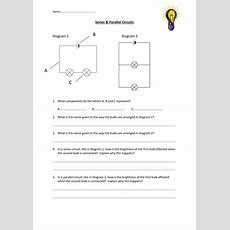 Series & Parallel Circuits Worksheet By Edp10ch  Teaching Resources