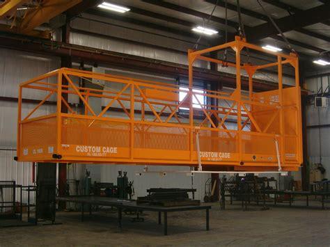 industrial cl l design basket manbasket crane suspended cages lift