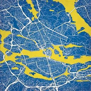 Stockholm  Sweden Map Art