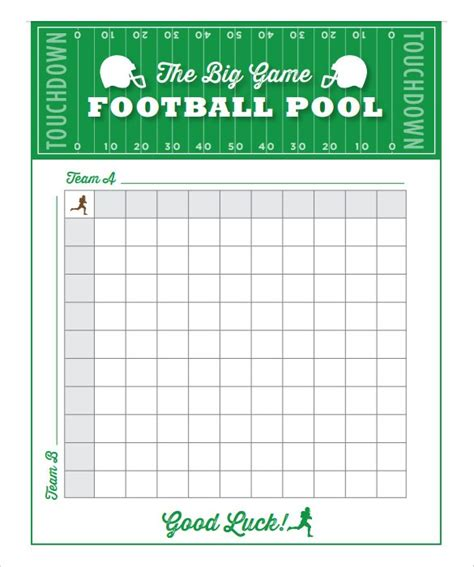 Bowl Squares Template Free 6 Blank Printable Football Squares Template