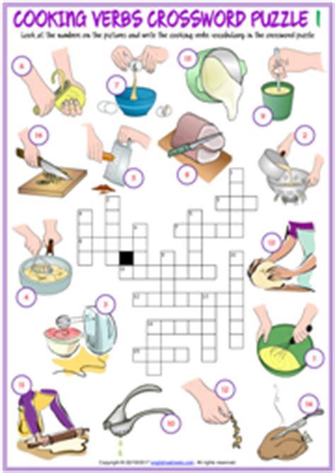 cooking verbs esl printable worksheets  exercises
