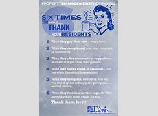 Six Times You Should Thank Your Residents! Property