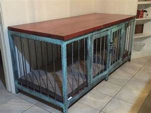 Dog crate that also is a fancy piece of modern industrial for Xl indoor dog kennel