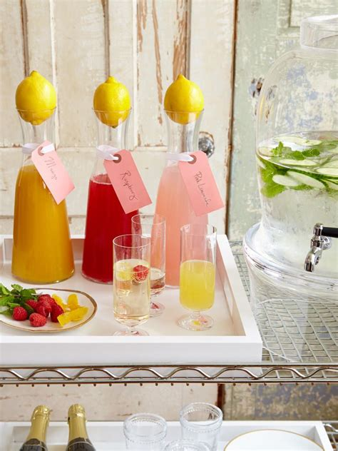 stylish cocktail ideas for a summer bridal shower