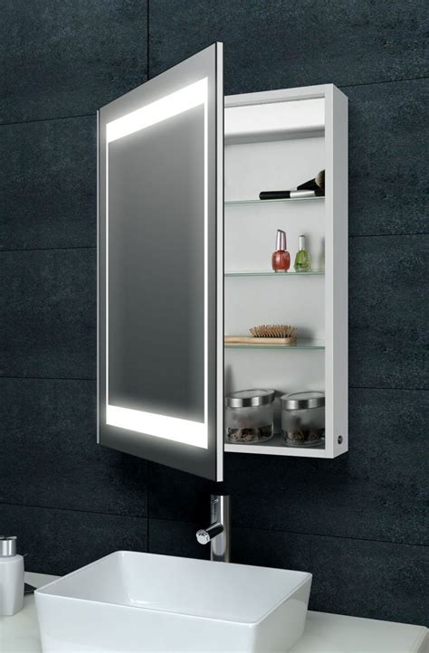 Bathroom Vanity Mirrors With Storage by Aluminium Backlit Mirrored Bathroom Cabinet