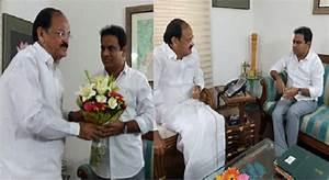 CineJosh.com: KTR meets Venkaiah Naidu, seeks funds for ...