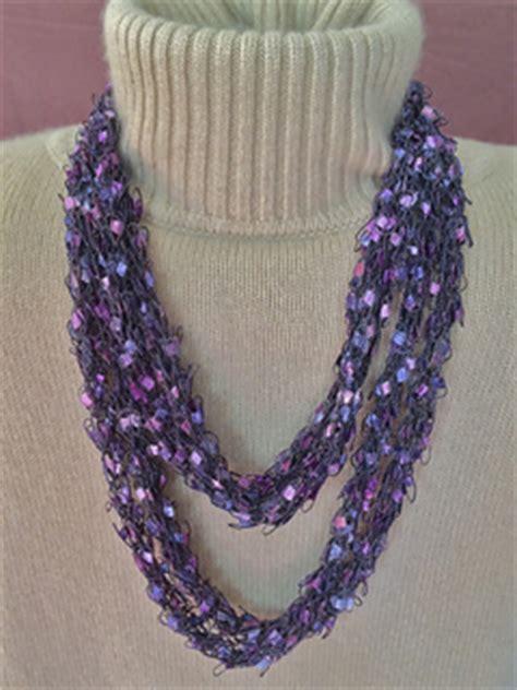 ravelry french knit ladder yarn necklace pattern  gemma