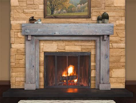reclaimed wood mantels   rustic  antique fireplace