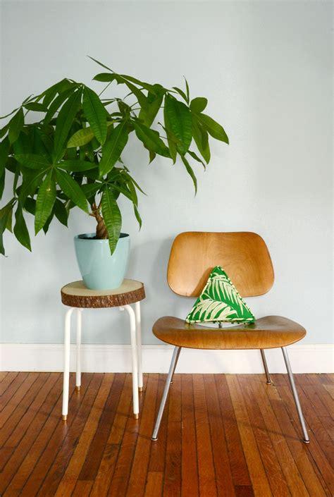 ikea hack simple wood slab plant stand diy furniture