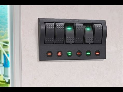 Boat Switch Panel Not Working by Narva 63193 6 Way Led Switch Panel With Fuse Protection
