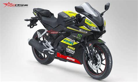 inilah modifikasi pertama kali striping all new yamaha r15 black matte monster tech3 motogp