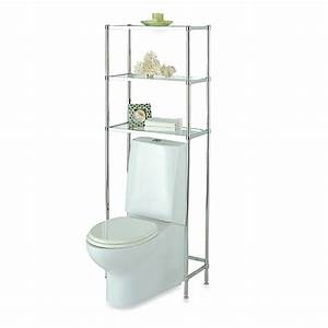 glacier over the toilet three shelf spacesaver bed bath With bed bath and beyond bathroom shelves