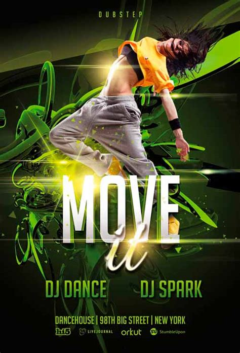 Free St Patricks Day Wallpaper Download The Free Move It Dance Flyer Template Awesomeflyer Com