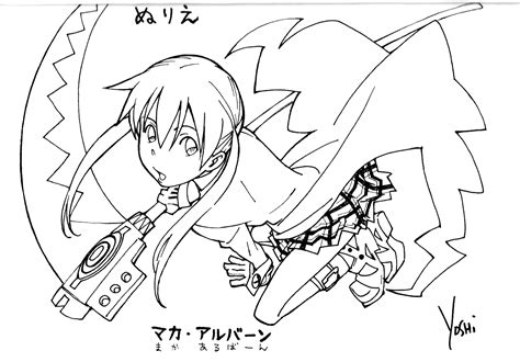 Soul Eater Coloring Pages - Costumepartyrun