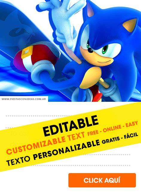 sonic  hedgehog birthday invitations