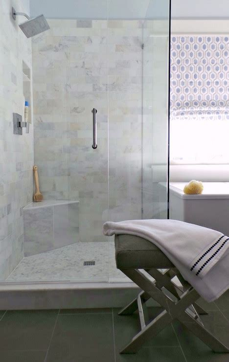 corner shower bench transitional bathroom  ace
