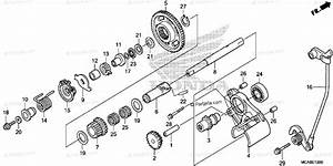 Honda Motorcycle 2012 Oem Parts Diagram For Reverse Gear